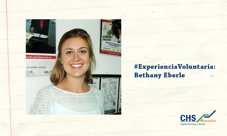 #ExperienciaVoluntaria: Bethany Eberle