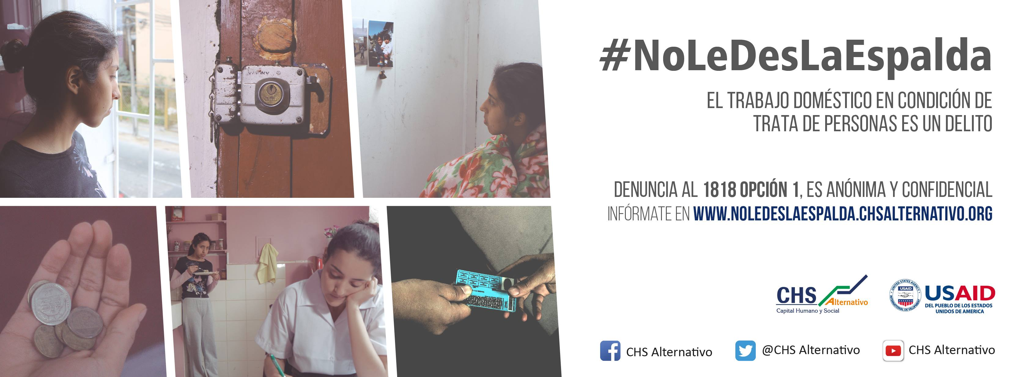 """""""No le des la espalda"""": Empleadas del hogar también pueden ser víctimas de trata de personas"""