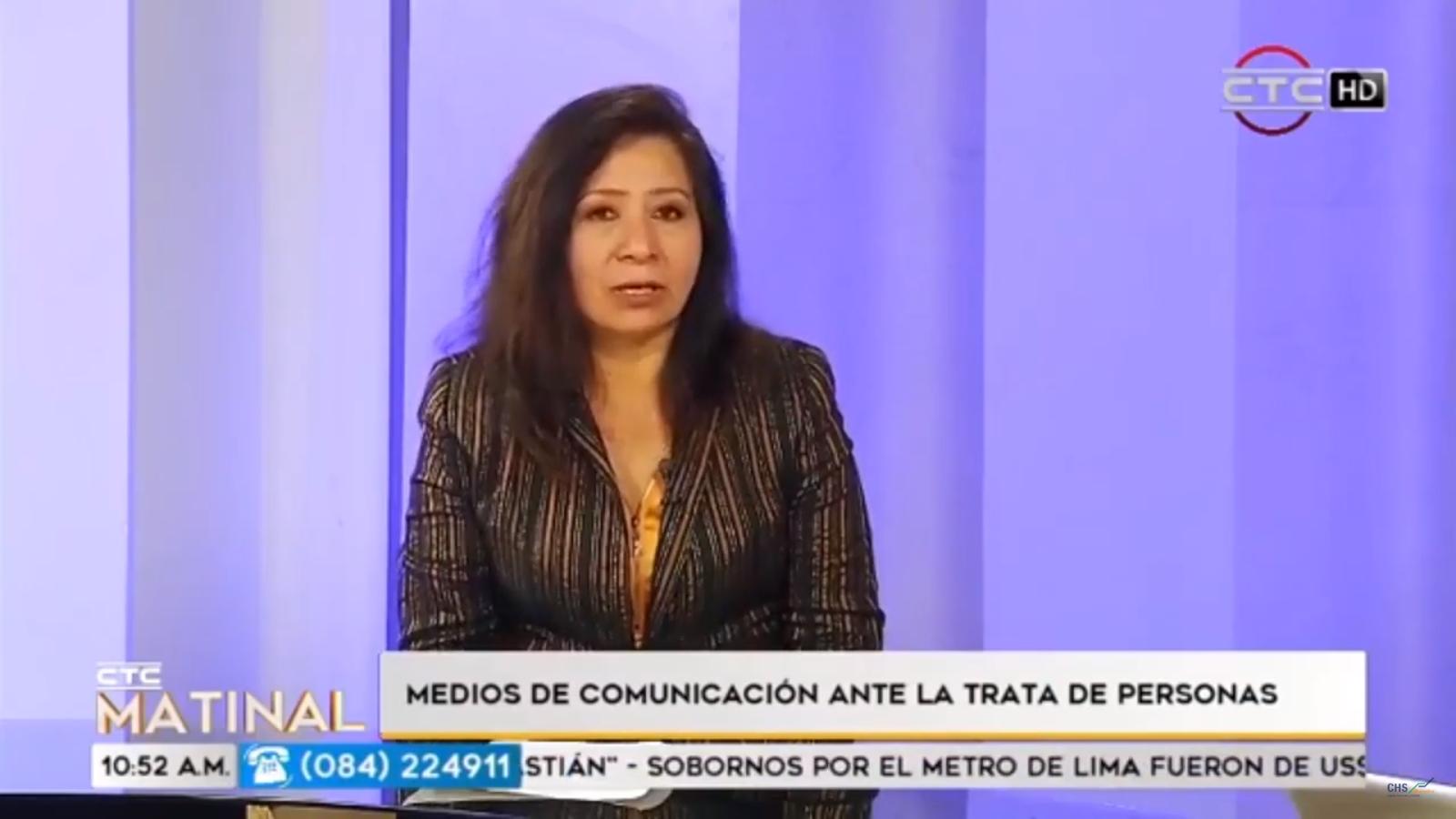 Medios de comunicación ante la trata de personas