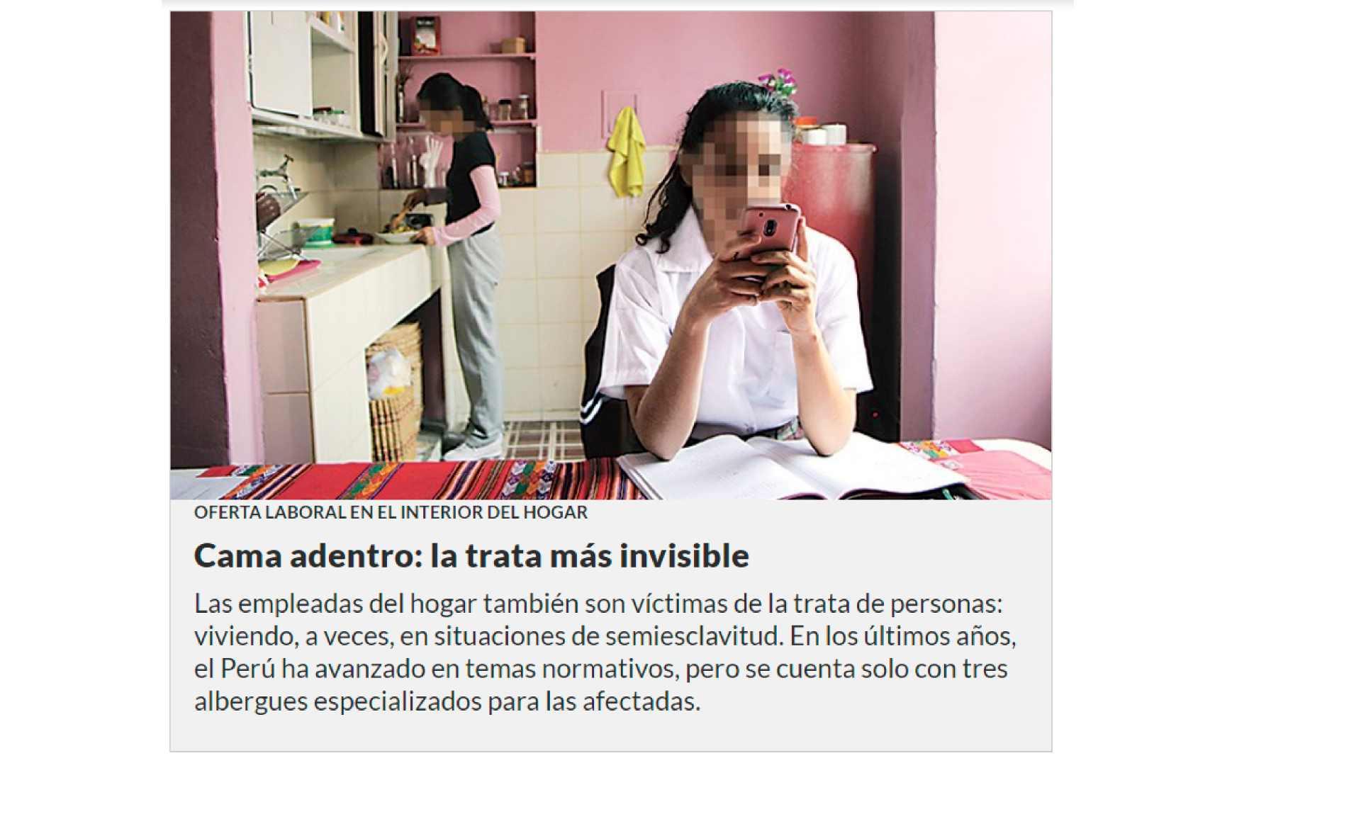 Cama adentro: la trata más invisible