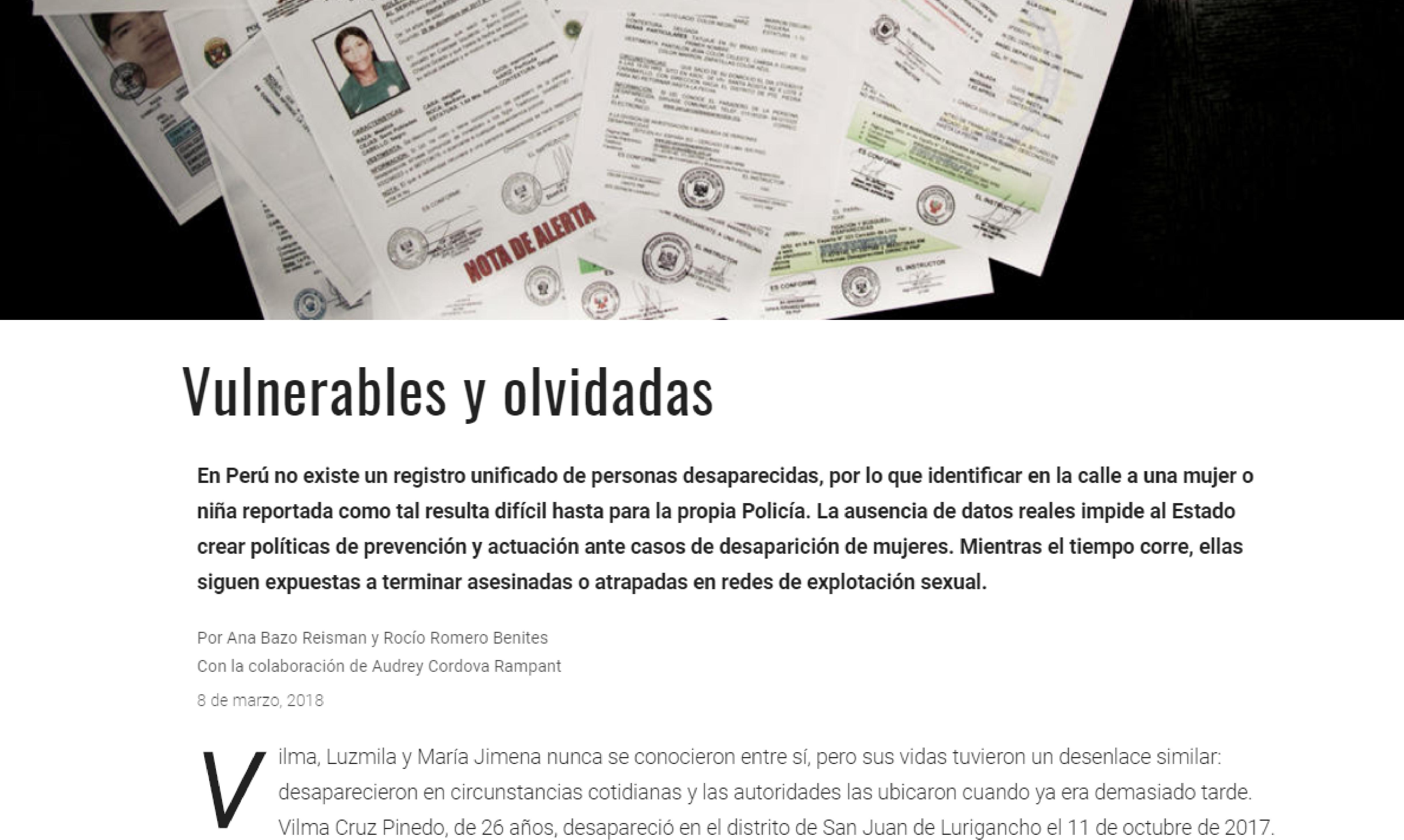 RPP: Vulnerables y Olvidadas