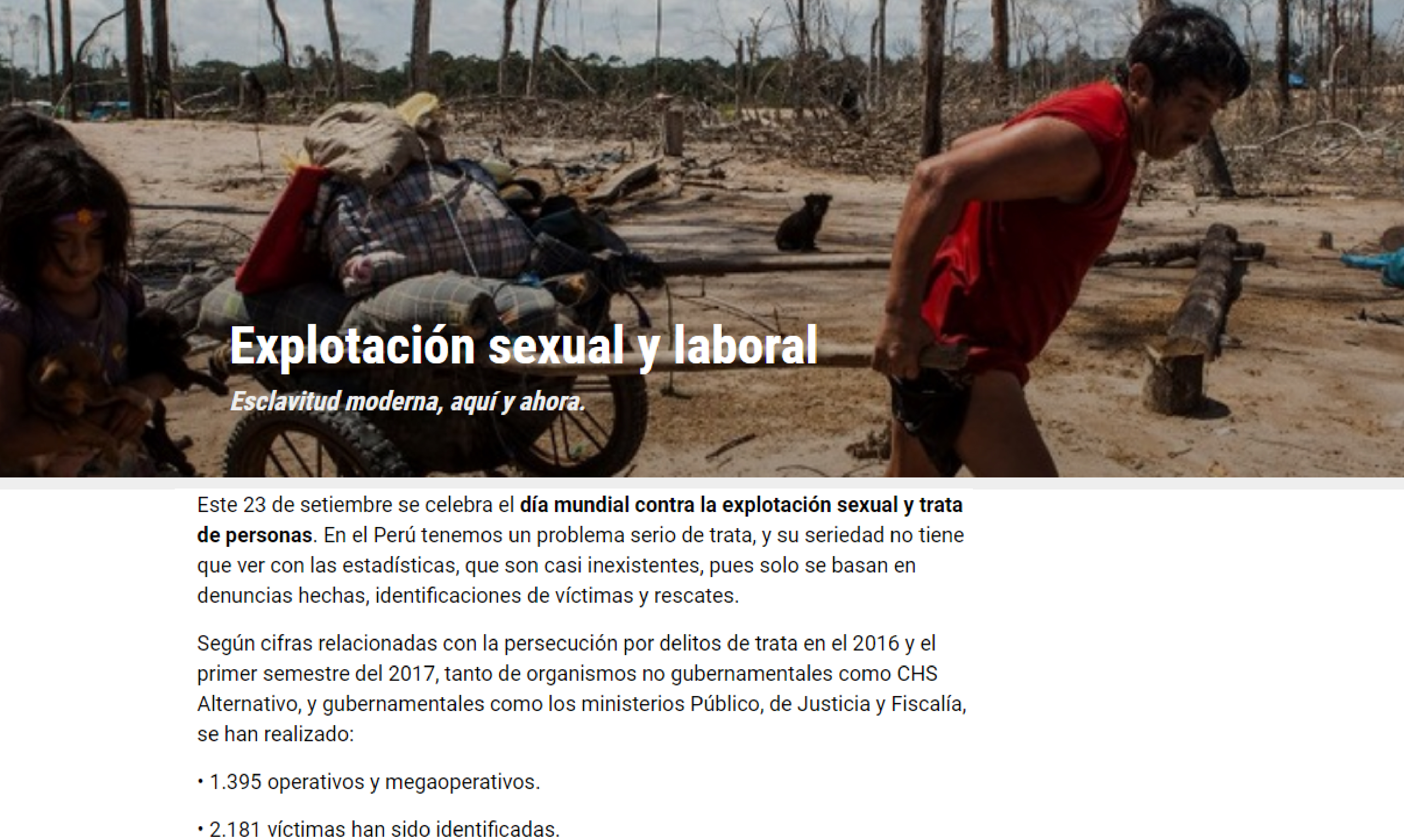 La Mula: Explotación sexual y laboral