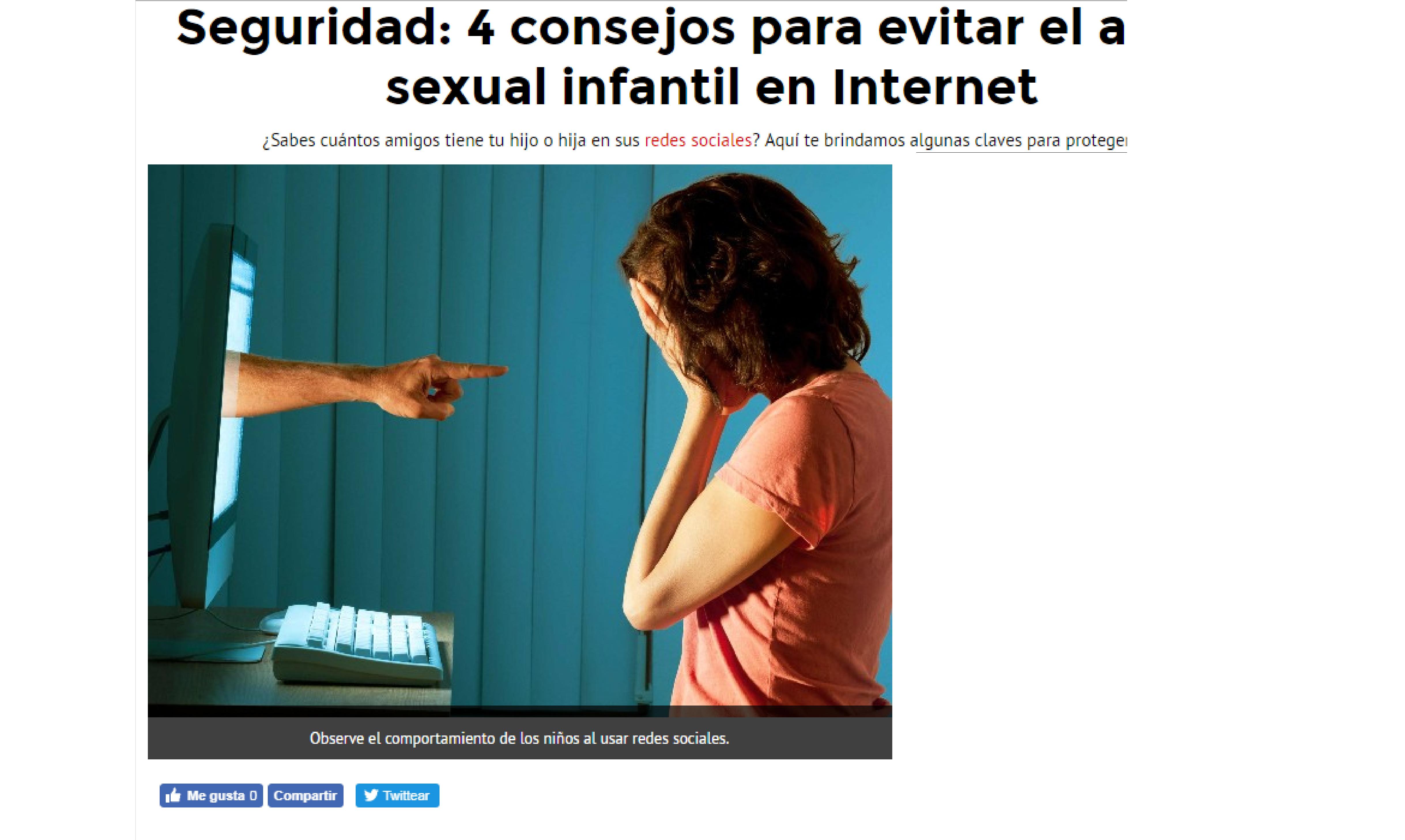El Popular: Seguridad: 4 consejos para evitar el acoso sexual infantil en Internet