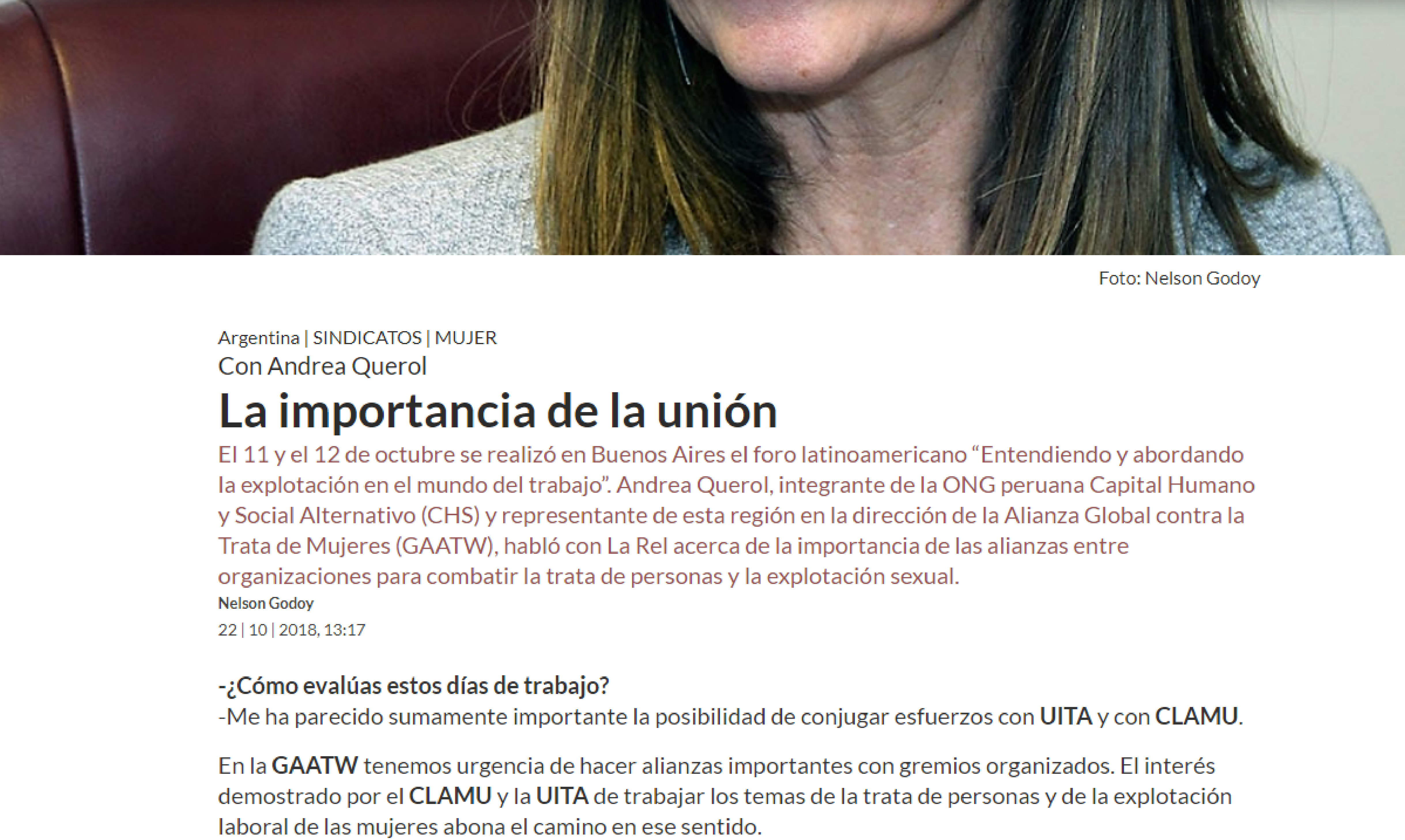 REL UITA: La importancia de la unión