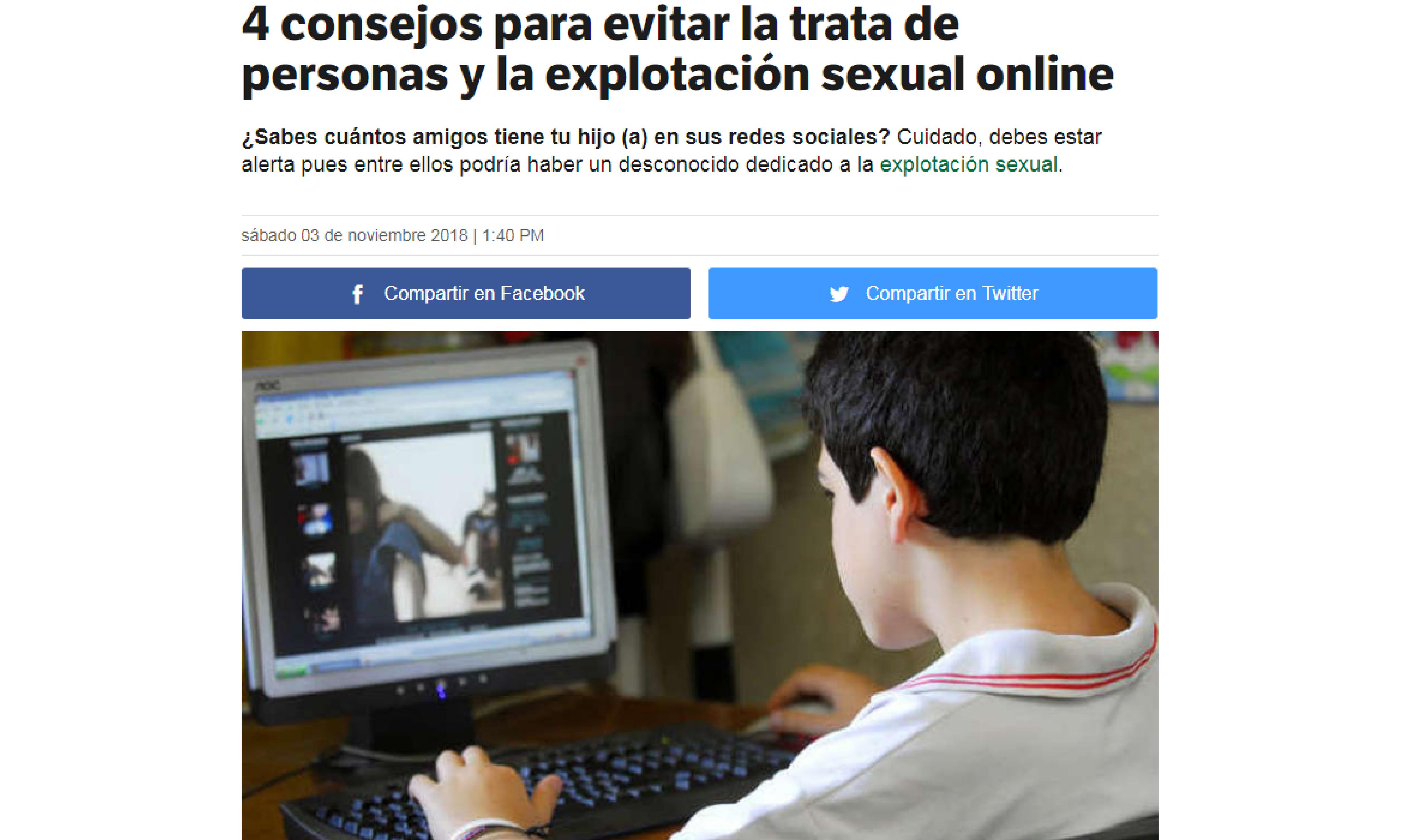 Capital: 4 consejos para evitar la trata de personas y la explotación sexual online