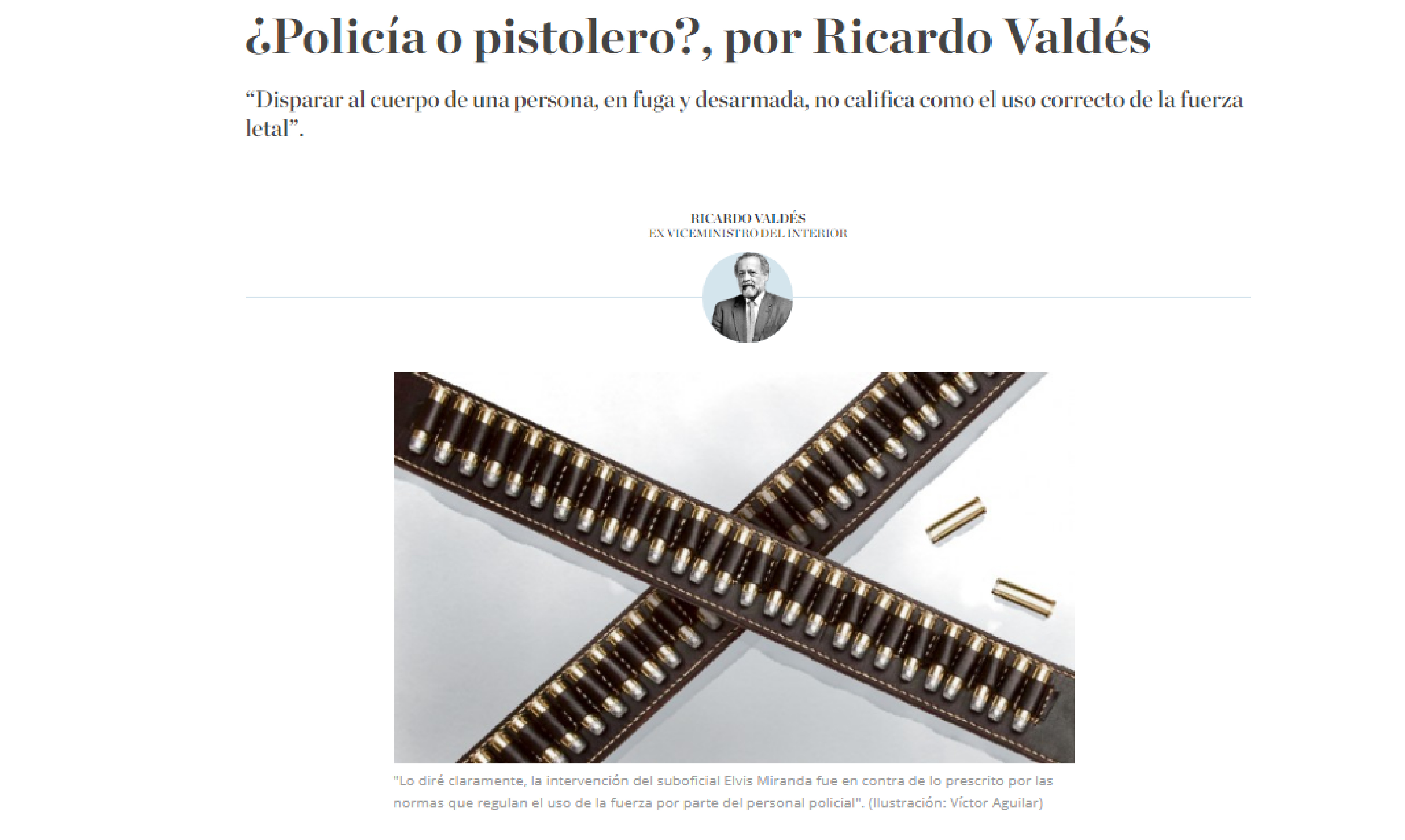 ¿Policía o pistolero?, por Ricardo Valdés