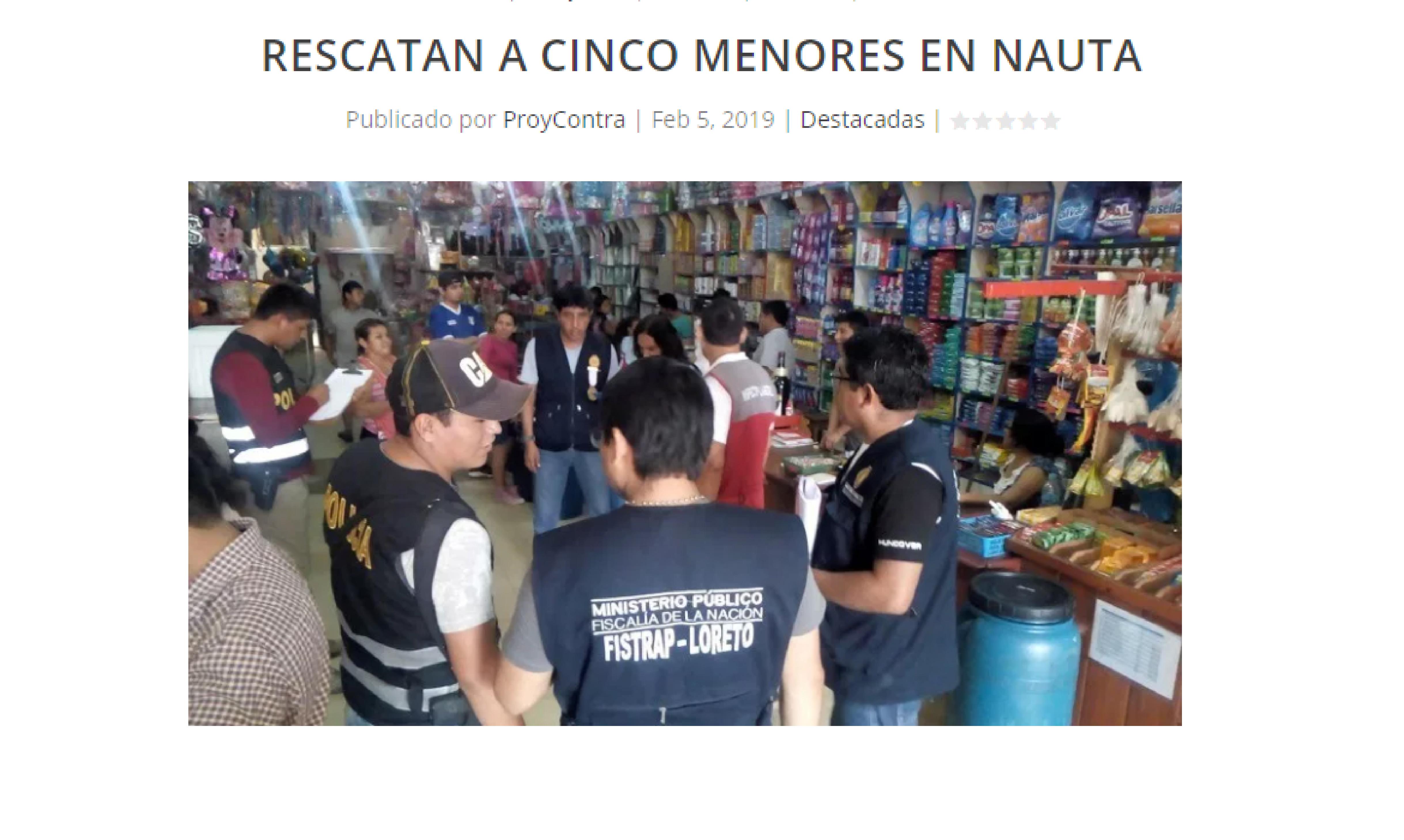 Rescatan a 5 menores en Nauta