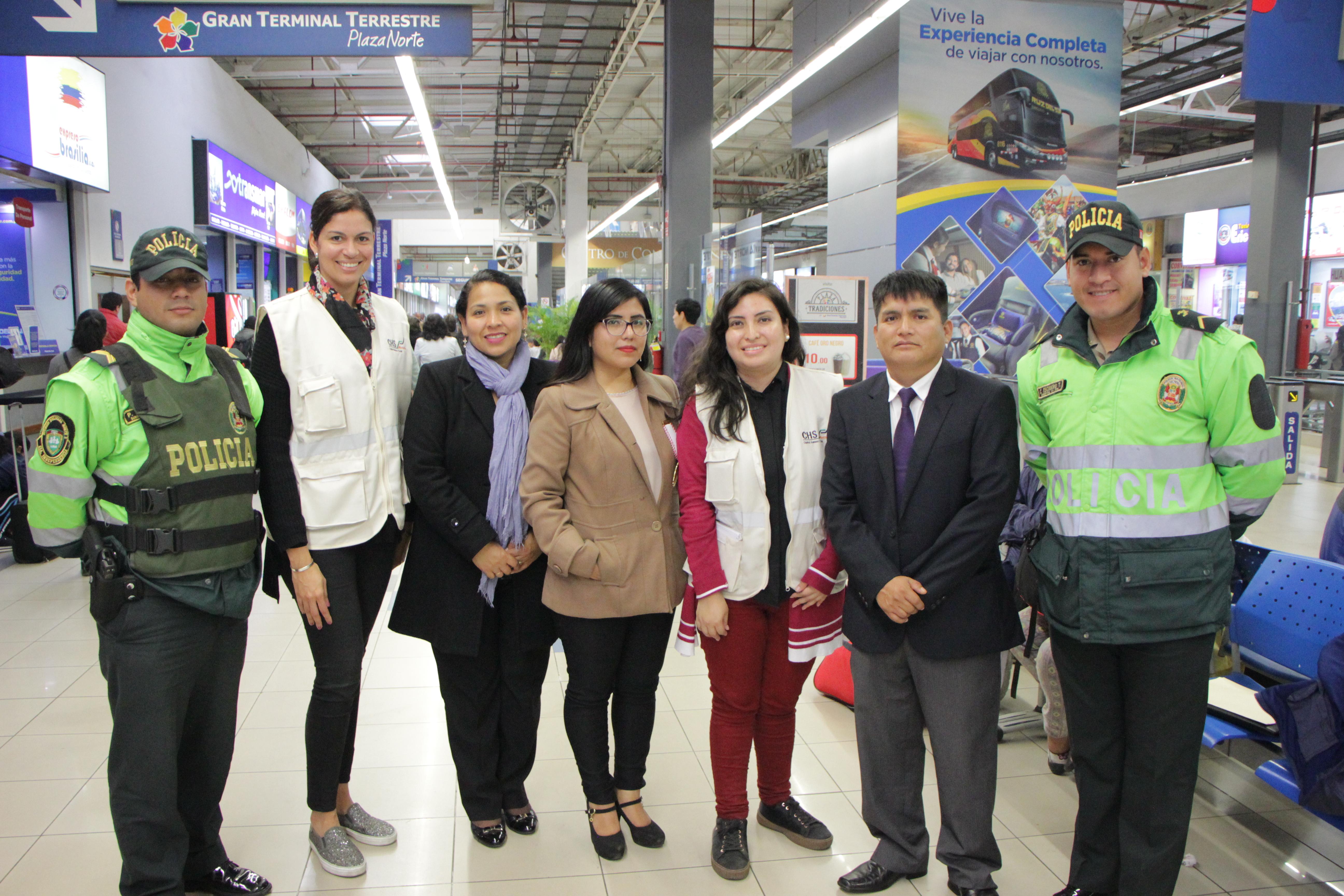 No al tráfico de menores en el terminale terrestre de Lima Norte