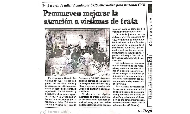 Promueven mejorar la atención a víctimas de trata