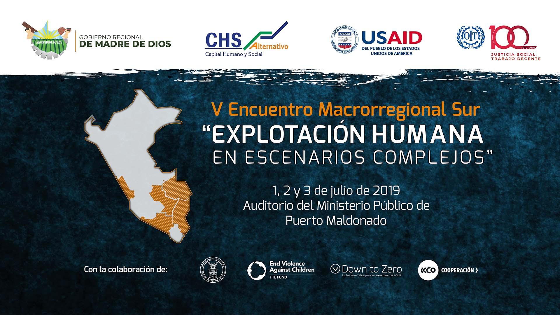 CHS Alternativo convoca al V Encuentro Macrorregional Sur sobre explotación humana