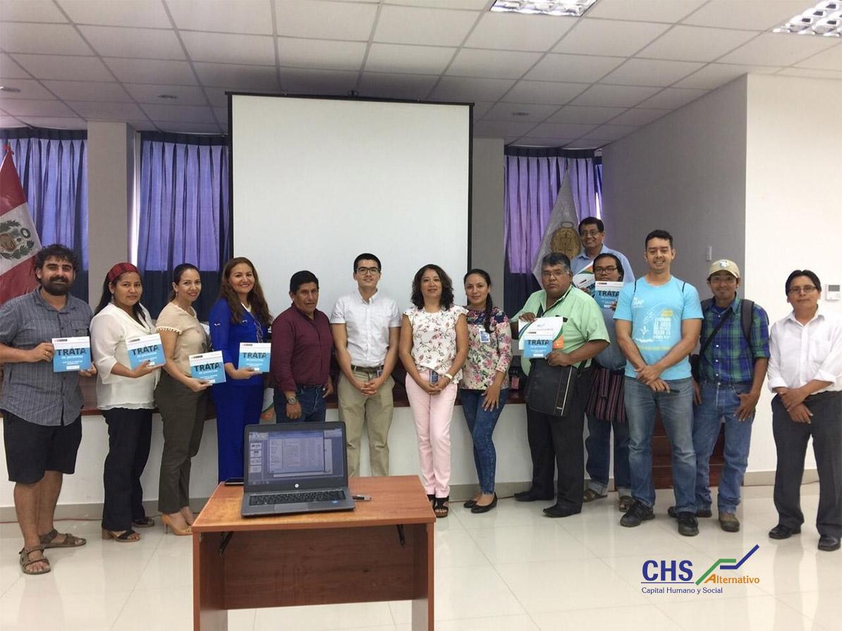 Periodistas y comunicadores de Madre de Dios participan del taller de fortalecimiento de capacidades en el abordaje periodístico del delito de trata de personas
