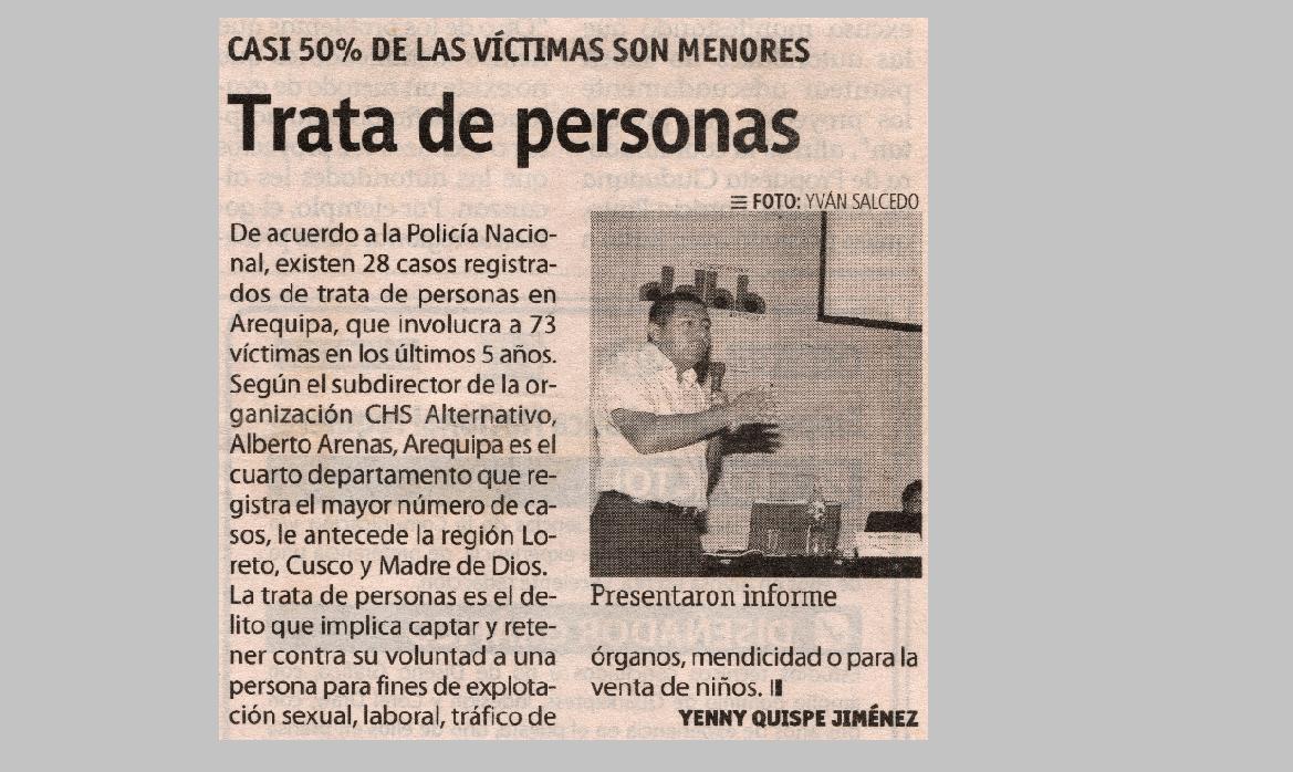 Trata de personas: Casi el 50% de las víctimas son menores de edad