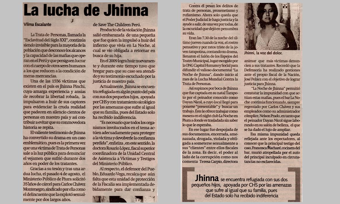 La lucha de Jhinna