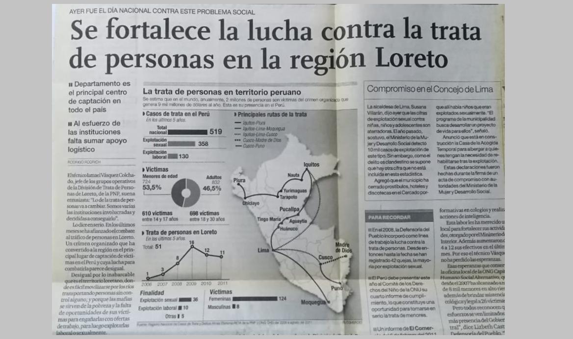 Se fortalece la lucha contra la trata de personas en la región Loreto