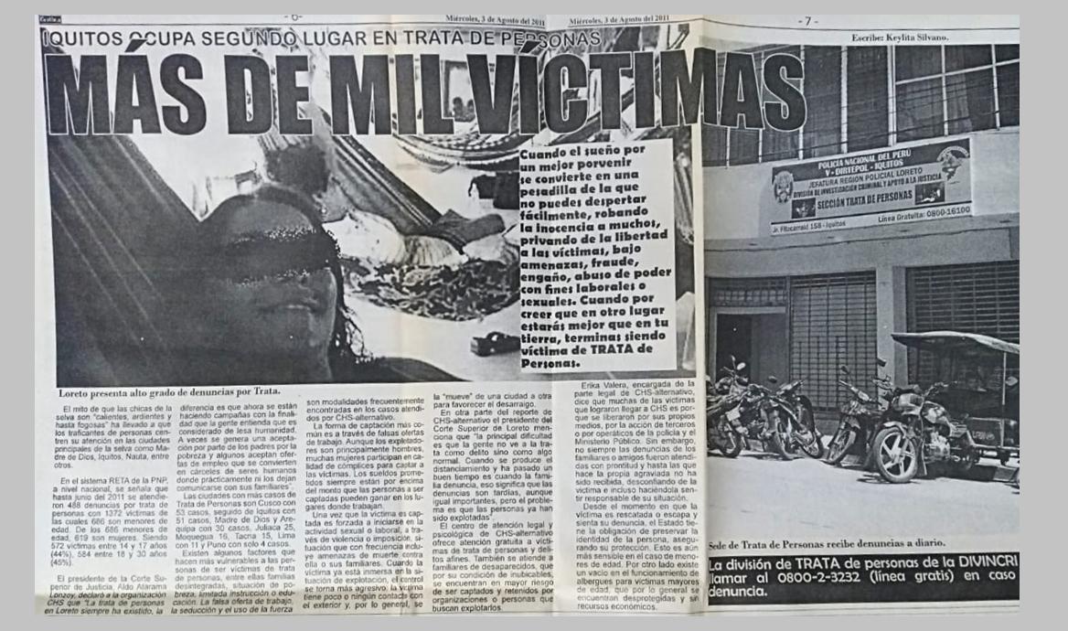 Más de mil víctimas