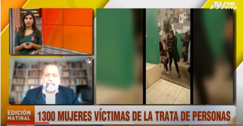 """Ricardo Valdés en ATV – """"Tenemos alrededor de 5 mil víctimas de trata en los últimos 4 años"""""""