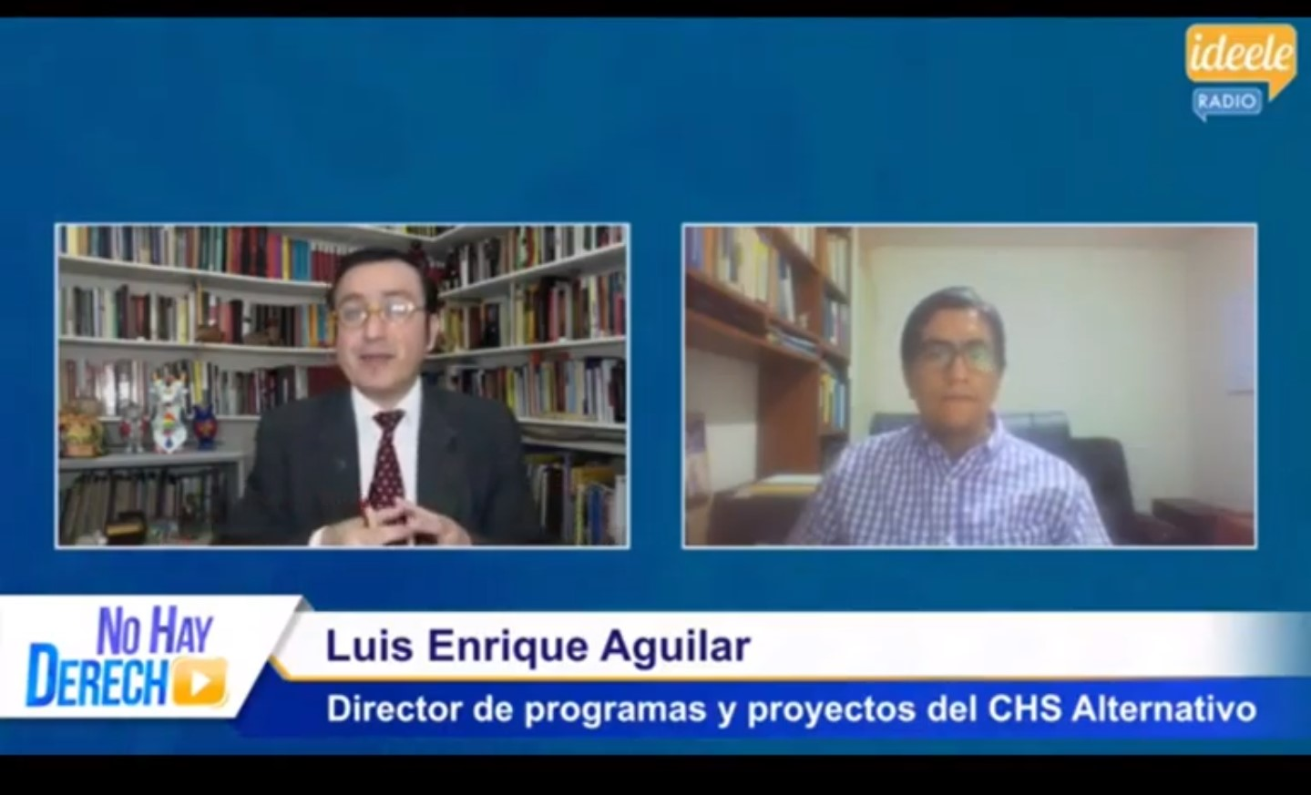 """Luis Enrique Aguilar en Ideele – """"Debemos saber qué está pasando en materia de trata de personas"""""""