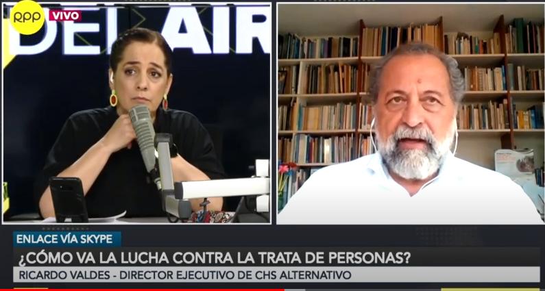 """Ricardo Valdés en RPP – """"Se requieren 3 soles por persona para luchar contra la trata de personas"""""""