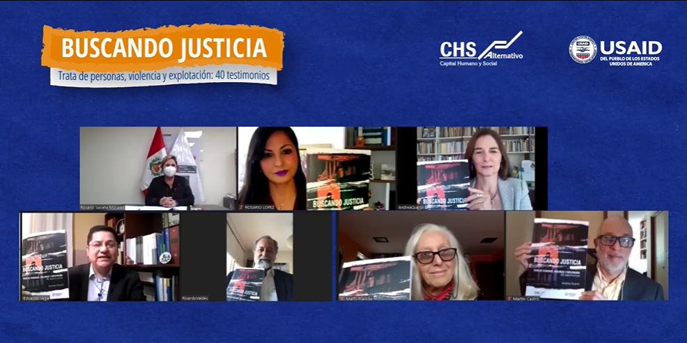 Presentación del libro «Buscando justicia: Trata de personas, violencia y explotación: 40 testimonios»
