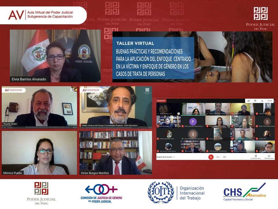 Poder Judicial y CHS Alternativo unen esfuerzos para erradicar el delito de trata de personas