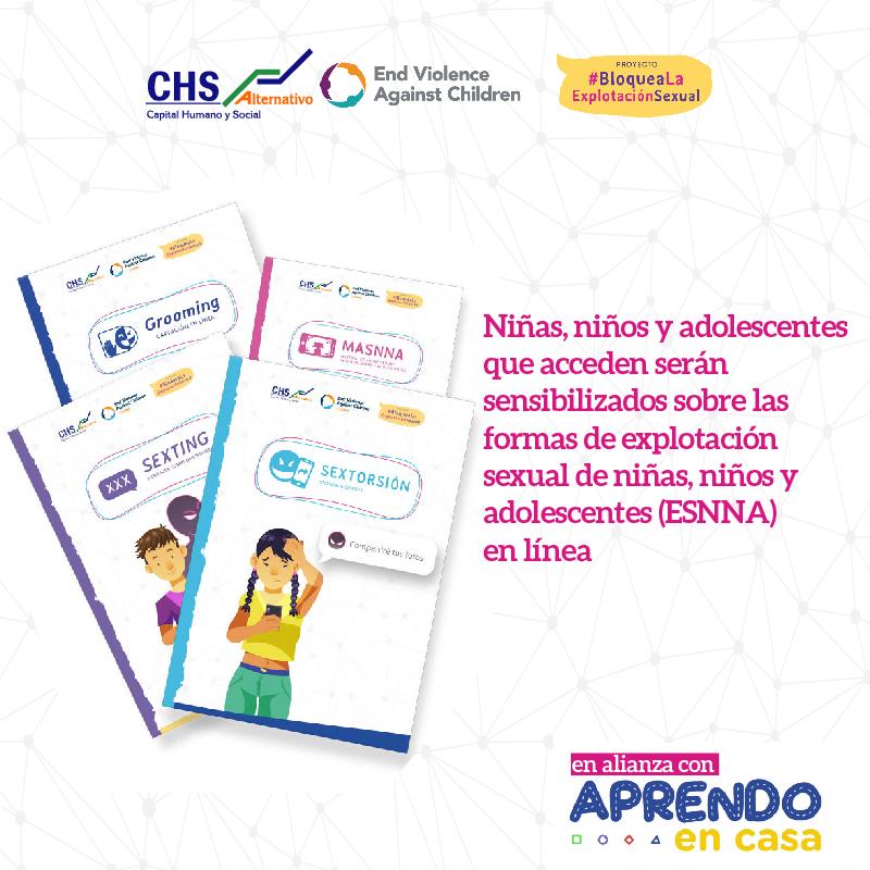 CHS ALTERNATIVO INCLUYE CONTENIDOS DE PREVENCIÓN DE ESNNA EN LINEA EN APRENDO EN CASA