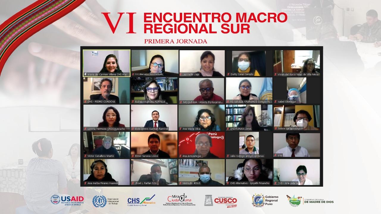 CHS Alternativo inaugura VI Encuentro Macrorregional Sur sobre la trata de personas