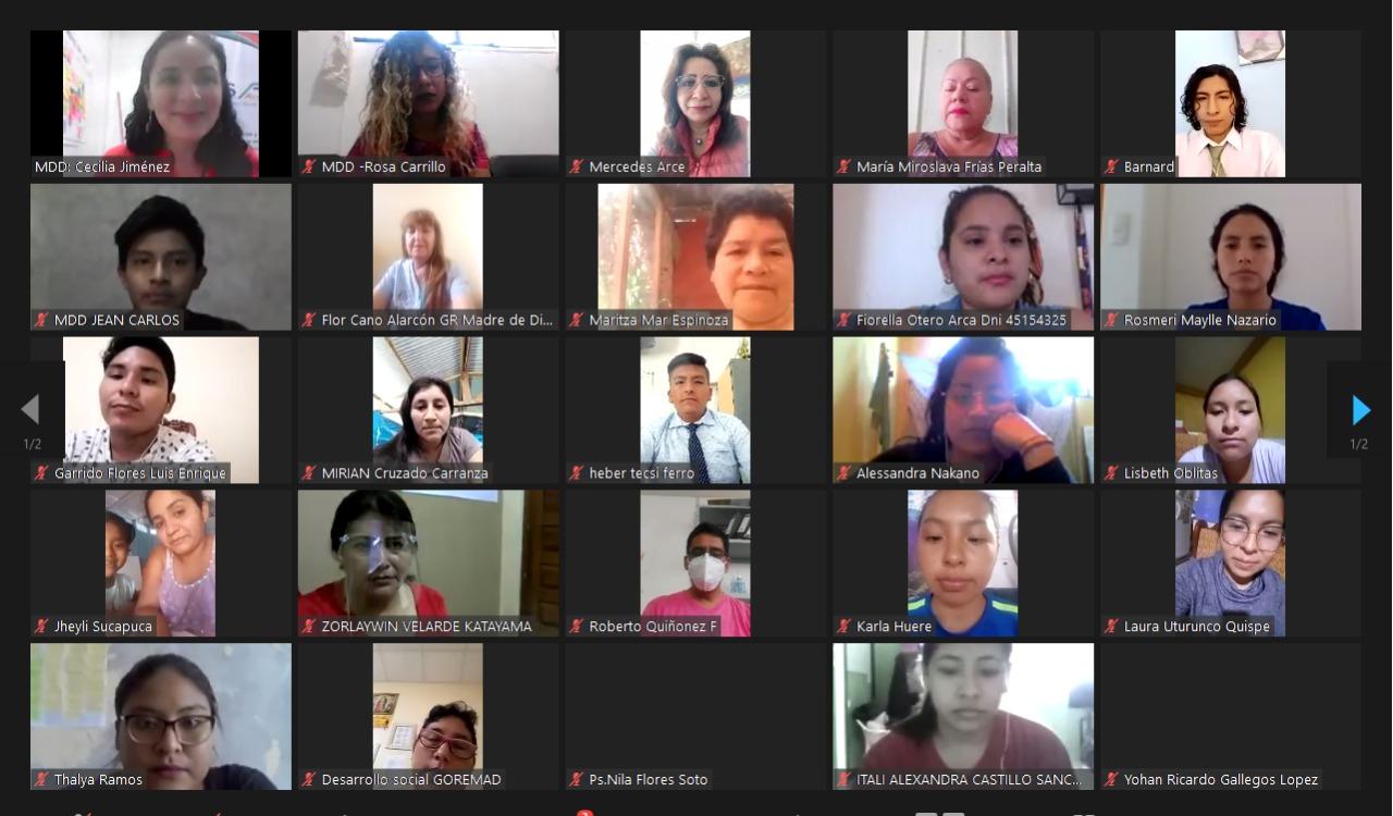CHS Alternativo realizó encuentro virtual sobre la trata de personas en la región Madre de Dios
